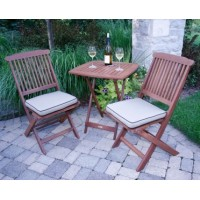 Solid Wood Outdoor Set/ Patio Garden Furniture- Bistro Set