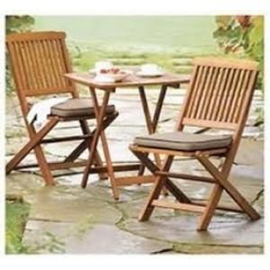 Solid Wood Outdoor Set/ Patio Garden Furniture- Bistro Set
