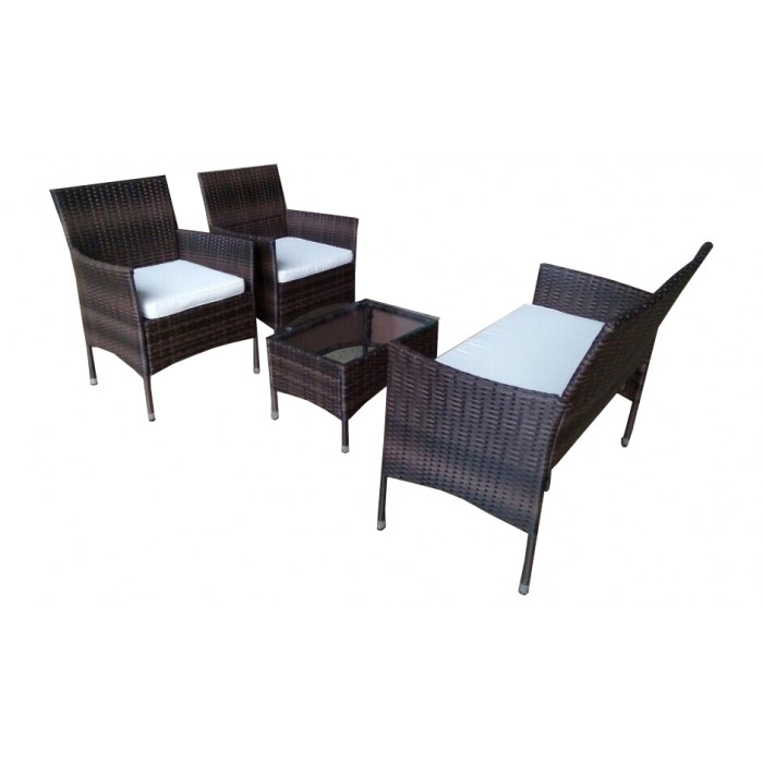 poly rattan simple sofa set. Black Bedroom Furniture Sets. Home Design Ideas