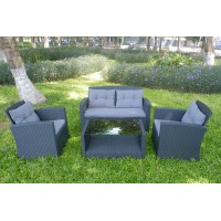 IPRO Poly Rattan Wicker Outdoor Set/ Patio Garden Furniture-Sofa Set 4-2