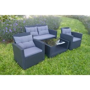 IPRO Poly Rattan Wicker Outdoor Set/ Patio Garden Furniture-Sofa Set 4-2