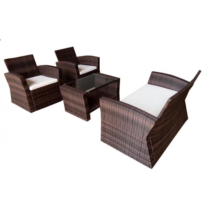 poly rattan sofa set. Black Bedroom Furniture Sets. Home Design Ideas