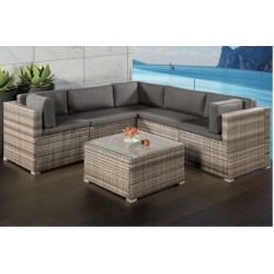 IPRO Patio Garden Furniture - Medium Sofa Set (GREY)