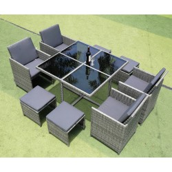 IPRO Patio Garden Furniture  - Cube set 4+4