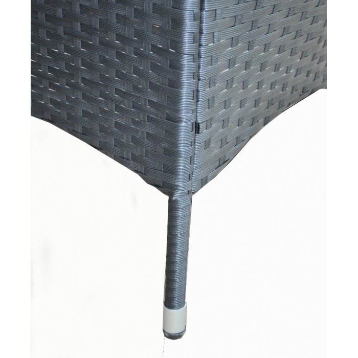 Polirattan A. Black Rattan Outdoor Patio Poly Rattan Lounge Sofa Set ...