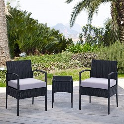 Rattan wicker outdoor set/ Patio Garden furniture  - Balcony Set 0