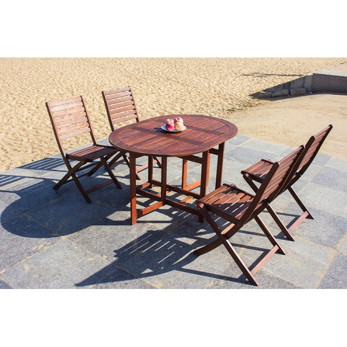 Excellent Solid Wood Outdoor Set Patio Garden Furniture Oval Drop Onthecornerstone Fun Painted Chair Ideas Images Onthecornerstoneorg