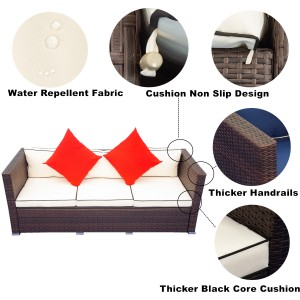 IPRO Patio Garden furniture, Sofa Set 25