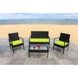 IPRO Poly Rattan wicker outdoor set, Sofa Set 0