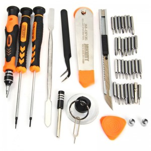 JAKEMY JM-8139 45 IN 1 MULTI BIT SCREWDRIVER KIT WITH SPUDGER TWEEZERS FOR TABLETS MOBILE PHONE PC REPAIR