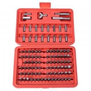 100PCS SCREWDRIVER SECURITY BIT SET TORX STAR TAMPER SCREWS HEX KEY PHILLIPS SLOTTED TRI WING SCREW DRIVER REPAIR TOOL KIT