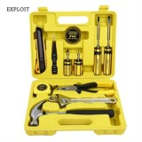 EXPLOIT 12PCS REPAIR HOUSEHOLD HARDWARE TOOLS (YELLOW AND BLACK)