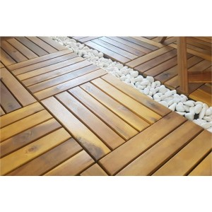 IPRO 10 Pcs Solid Wood Floor Decking ( 2.4 cm thickness)- Wood, Outdoor, Natural wood Finishing