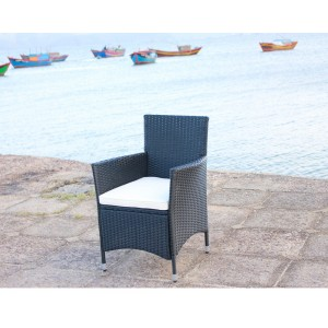 IPRO Poly Rattan Wicker Chair/ Outdoor Patio Garden Chair- 2 pieces