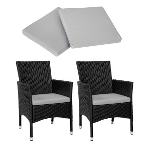 IPRO Poly Rattan Wicker Chair/ Outdoor Patio Garden Chair- 2 pieces