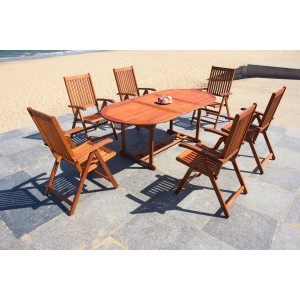 IPRO Solid Wood Outdoor Set/ Patio Garden Furniture- Vanamo Set