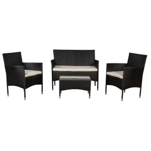 IPRO Patio Garden Furniture- Sofa set 1 (Black)