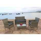IPRO poly Rattan Wicker Outdoor Set/ Patio Garden Furniture​- Sofa set 1 (GREY)