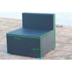 IPRO Patio Garden furniture,  Single Sofa Seater (BLACK)
