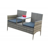 IPRO Patio Garden furniture  -  Love Seat (Grey)