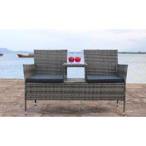 IPRO Patio Garden furniture  -  Love Seat (Grey)