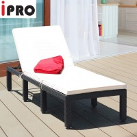 IPRO Poly Rattan wicker outdoor set,  Sunlounger (Brown)