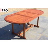IPRO Wooden Outdoor Table / Patio Garden Furniture / Outdoor Dining Table - Extendable Table 200cm length