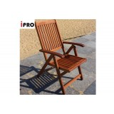 IPRO Wooden Outdoor Chair / Patio Garden Relax Chair / Outdoor Dining Reclining Chair - Reclining 5 position chair  (2 pcs)