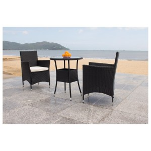 IPRO Poly Rattan Wicker Outdoor Furniture Set / Patio Garden Furniture Sofa Set / Balcony Table & Chair set / Cafe seating set - Bistro Set 2S with Dining Chair