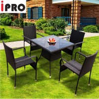 IPRO Bistro Set 4S with Square Table