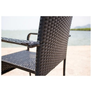 IPRO Poly Rattan Wicker Outdoor Furniture Set / Patio Garden Furniture Sofa Set / Balcony Table & Chair set / Cafe seating set - Bistro Set 4S - Square