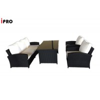 IPRO Poly Rattan Wicker Outdoor Furniture Set / Patio Garden Furniture Sofa Set / Dining Sofa Set &  Cafe seating set - Dining Sofa Set 1