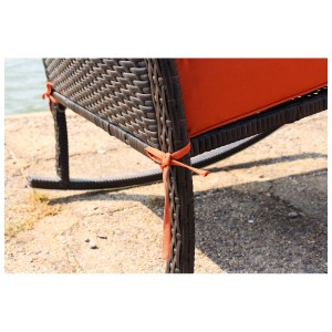 IPRO Poly Rattan Wicker Outdoor Chair / Outdoor Patio Garden Furniture Chair / Balcony Chair -  Rocking Chair