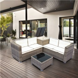 IPRO Rattan Sofa Set 4 Seater with Cushion Box