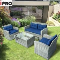 IPRO Rattan Sofa Set 4 Seater for Patio Garden Outdoor and Indoor Sofa Taman Sofa Relax  - Sofa Set 4-2